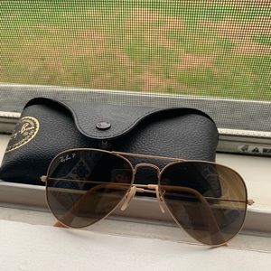 Ray bans women's aviators polarized